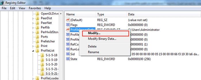 how to change user profile folder name on windows 7