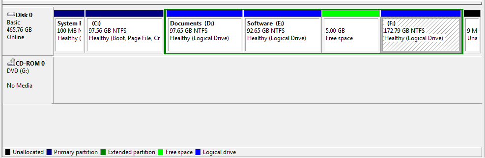 how to create logical drive in windows 7