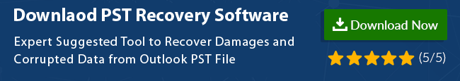 recover data from Outlook pst file