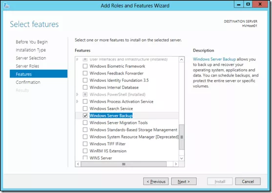 Recovery of Hyper-V VHD Files with Windows Server Backup Tool