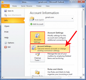 how to set password to open outlook 2016