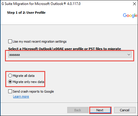 Outlook .pst to Gmail Migration