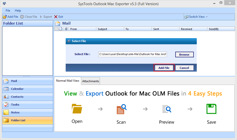 OLM to Office 365 Quick Migration Steps