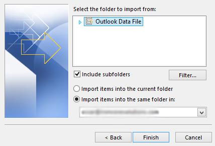Open Outlook Data File