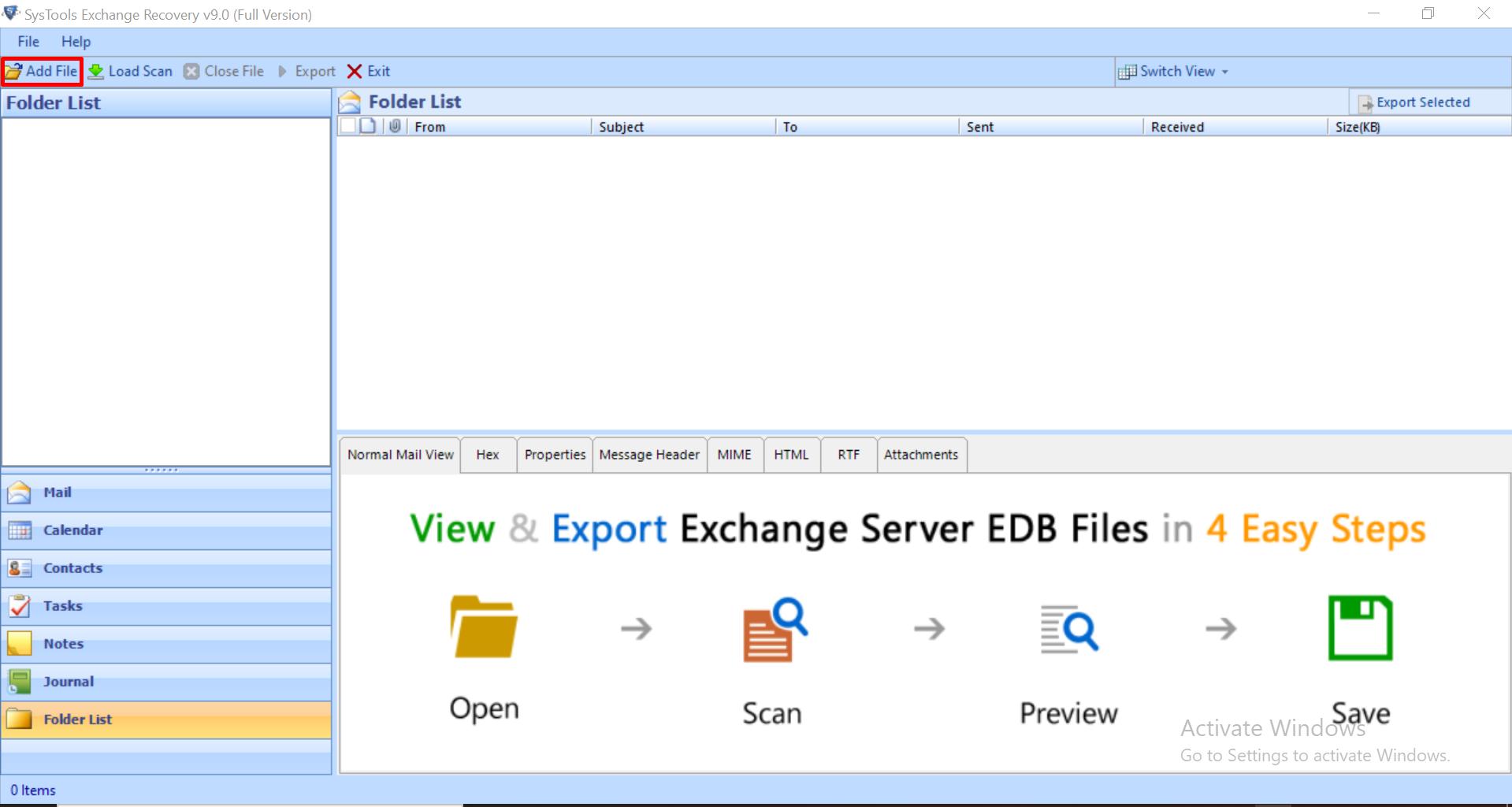 select add file