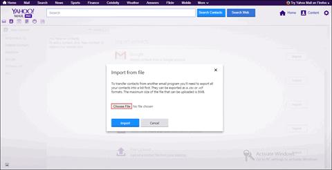 select File button.