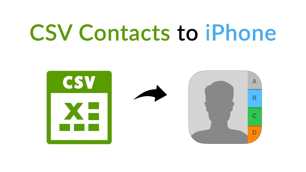 Import CSV contacts to iPhone Without iTunes