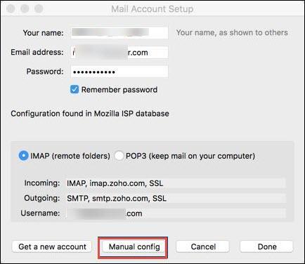 how to add Zoho mail to Thunderbird