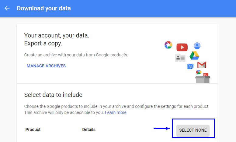 google takeout not working