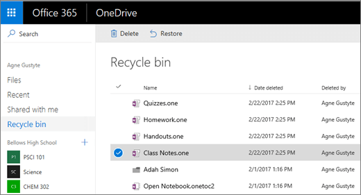 recover deleted onenote file
