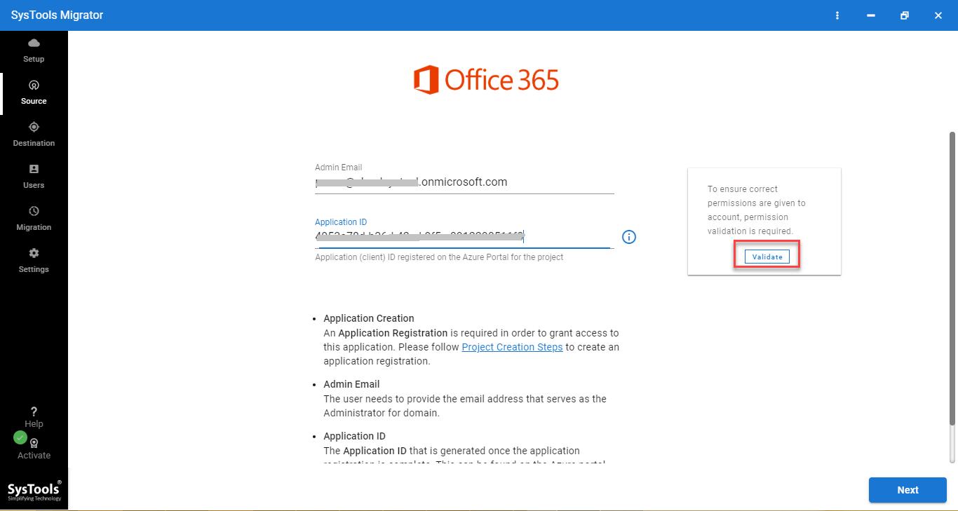 office 365 admin credentials