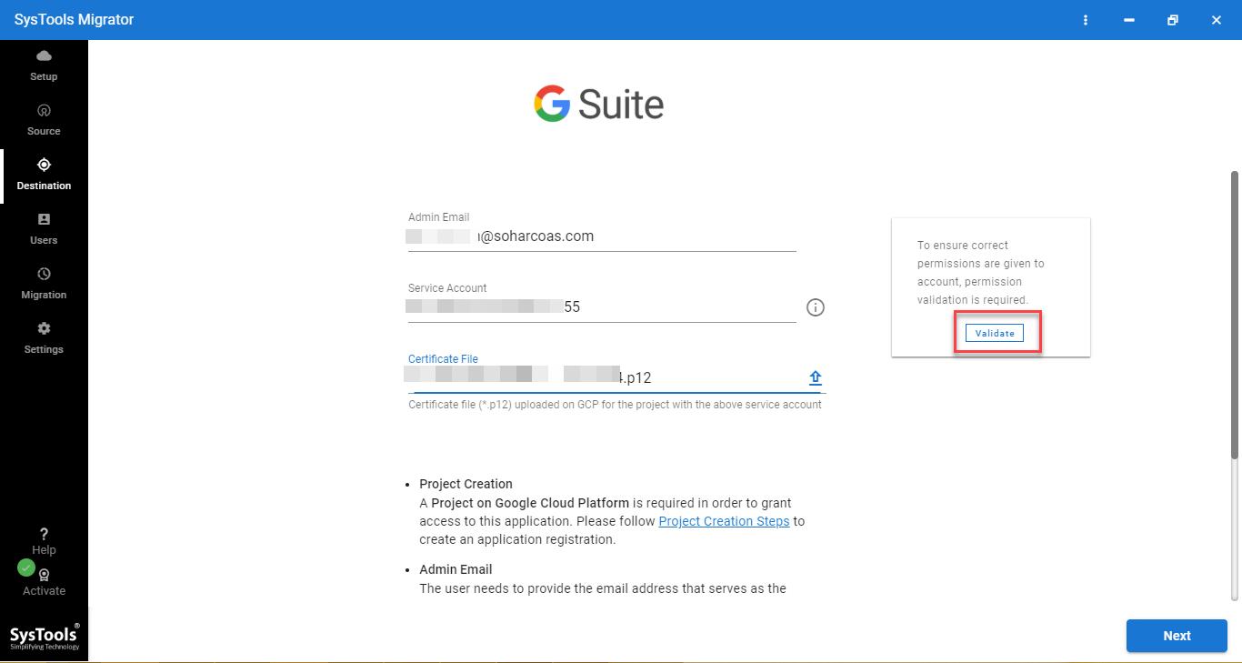 g suite admin credentials
