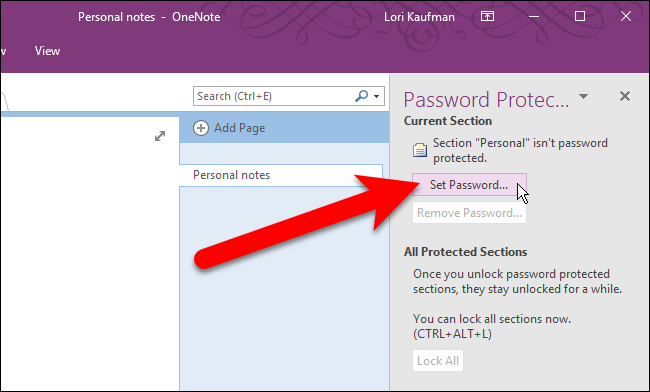 How Secure Is OneNote Online - Protect OneNote With Password