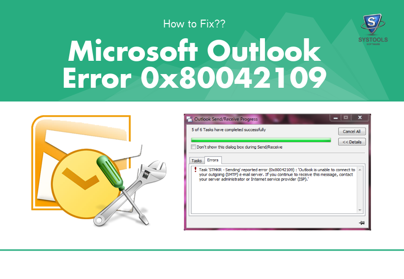 How to Troubleshoot Microsoft Outlook error 0x80042109