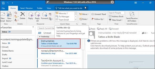 Open Microsoft Outlook