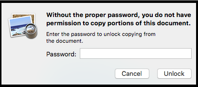 unsecure pdf document