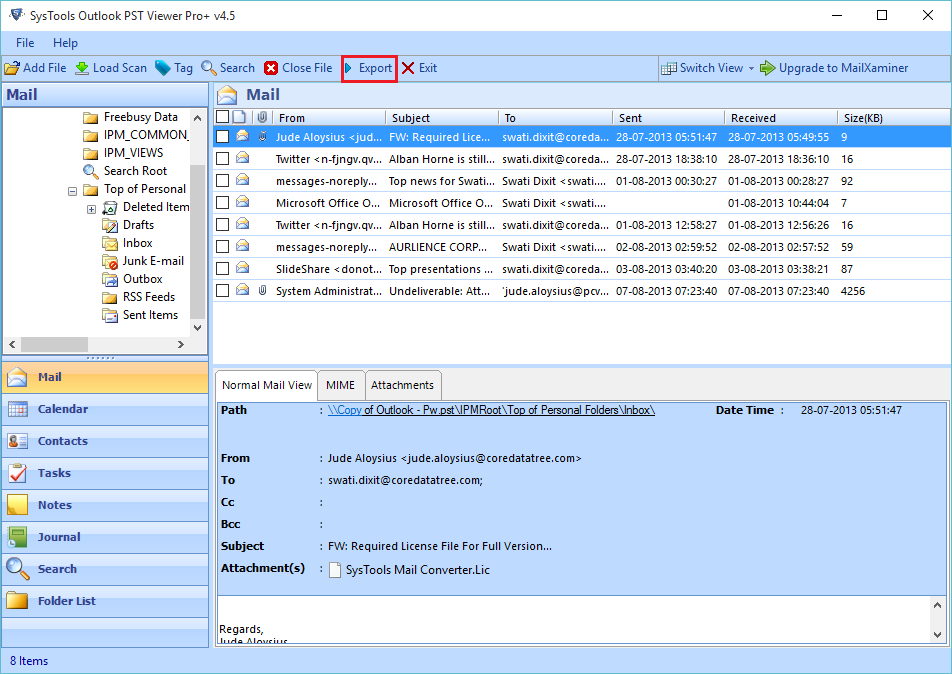 Extract Emails from PST File without Outlook
