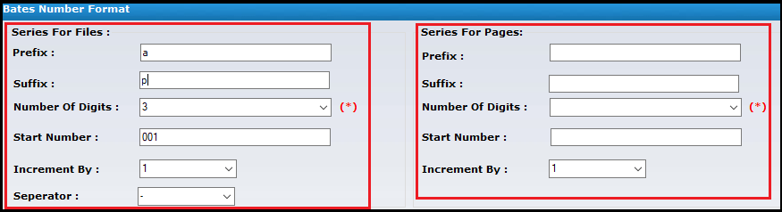 Fill details for PDF file number