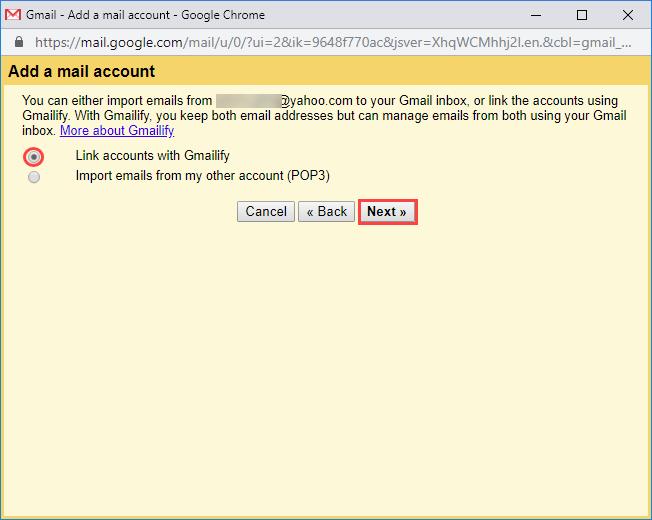 Gmailify option