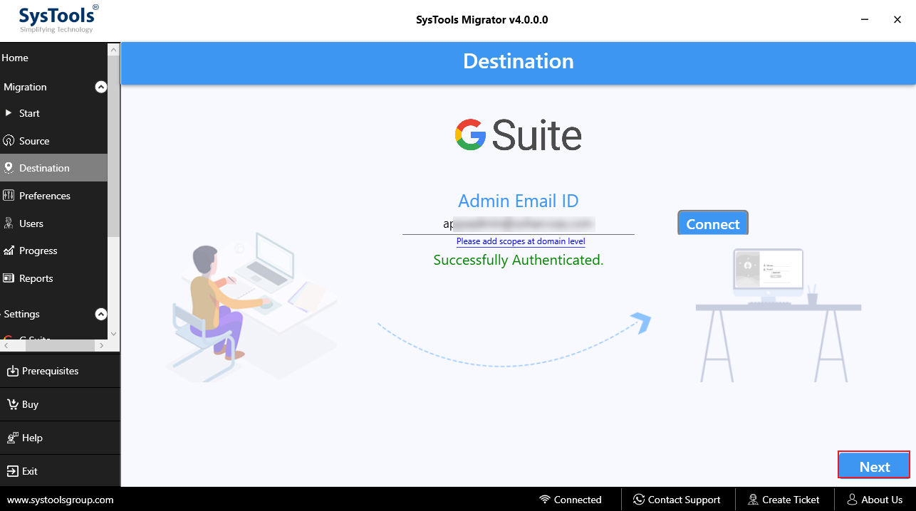 Transfer / Move Office 365 User Data to G Suite – Step by Step