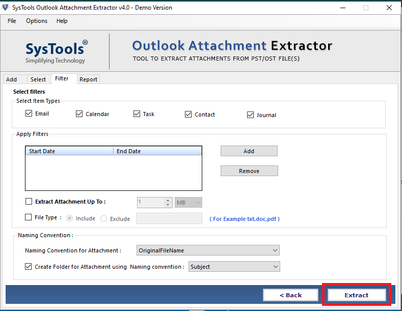 outlook attachment extraction
