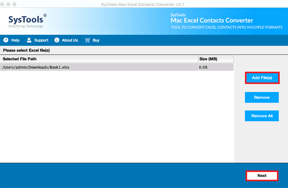 import contacts from Excel to Outlook 2011 for Mac