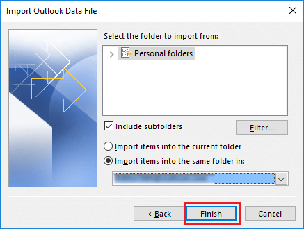 import pst files to consolidate outlook pst files