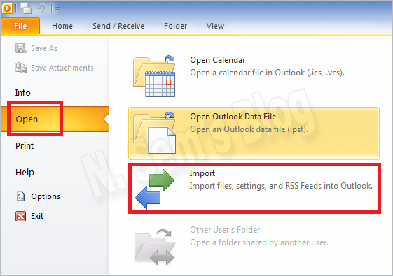 consolidate pst files outlook 2010 via merging