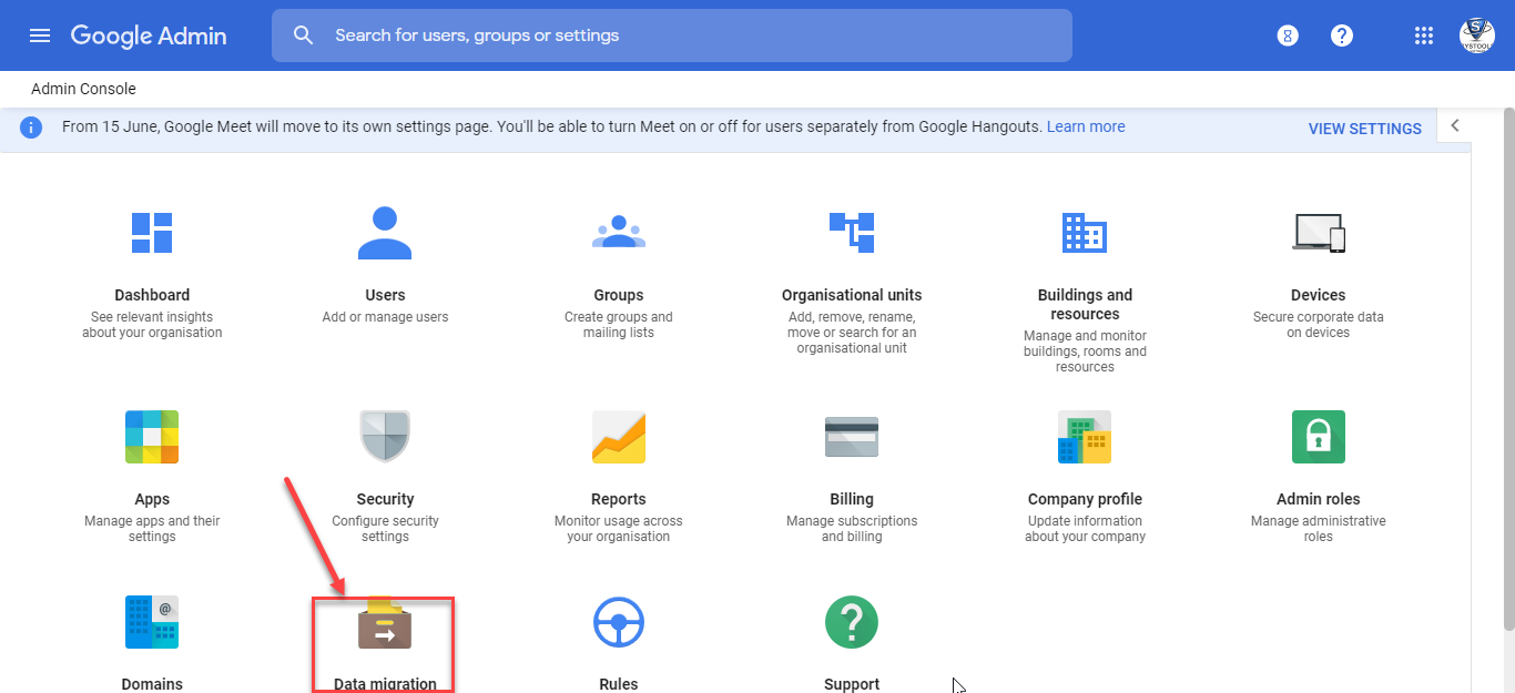 Google Workspace data migration