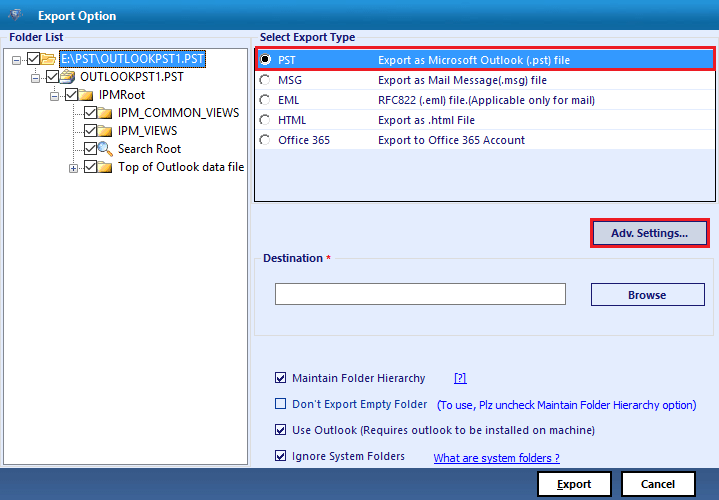 Advanced Settings - Outlook Incoming Emails Disappearing