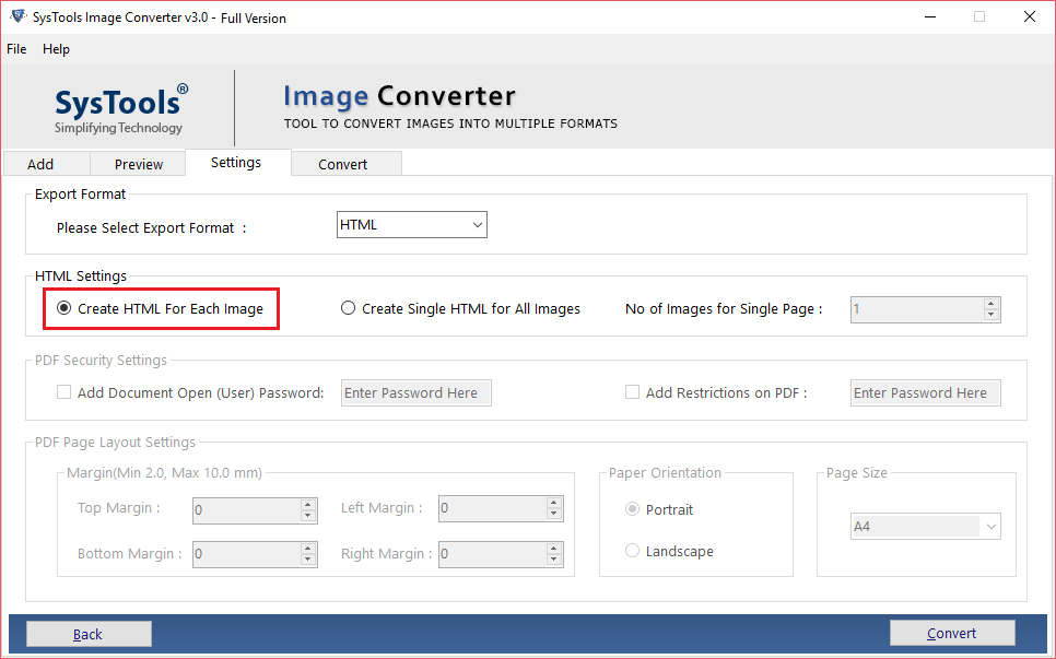 convert PNG to HTML