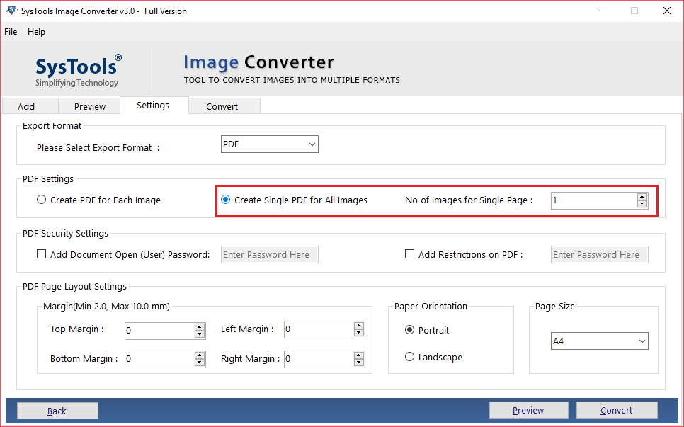 Create Single PDF for All Images