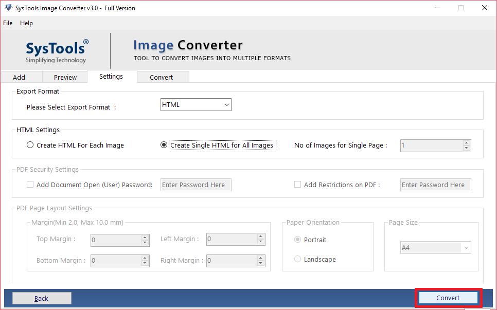 html convert button