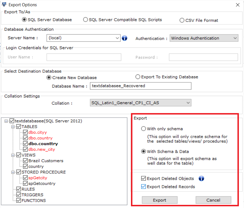 Extract Data From SQL Server Database
